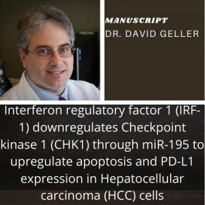 Dr. David Geller publishes manuscript in British Journal of Cancer