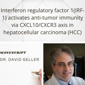 Dr. Geller publishes manuscript in Cancer Letters
